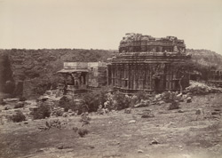 Gokak. Temple near the falls. [Tateshwara Temple.]